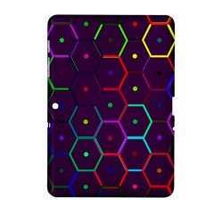 Color Bee Hive Pattern Samsung Galaxy Tab 2 (10.1 ) P5100 Hardshell Case