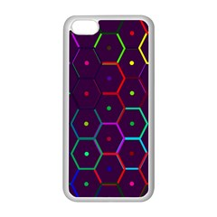 Color Bee Hive Pattern Apple Iphone 5c Seamless Case (white)