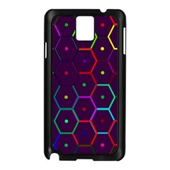 Color Bee Hive Pattern Samsung Galaxy Note 3 N9005 Case (black)