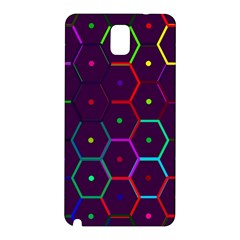 Color Bee Hive Pattern Samsung Galaxy Note 3 N9005 Hardshell Back Case