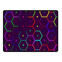 Color Bee Hive Pattern Double Sided Fleece Blanket (small)