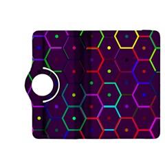 Color Bee Hive Pattern Kindle Fire Hdx 8 9  Flip 360 Case