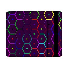 Color Bee Hive Pattern Samsung Galaxy Tab Pro 8 4  Flip Case