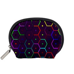 Color Bee Hive Pattern Accessory Pouches (small)