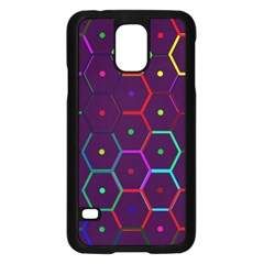 Color Bee Hive Pattern Samsung Galaxy S5 Case (black)