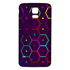 Color Bee Hive Pattern Samsung Galaxy S5 Back Case (white)