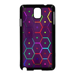 Color Bee Hive Pattern Samsung Galaxy Note 3 Neo Hardshell Case (black)