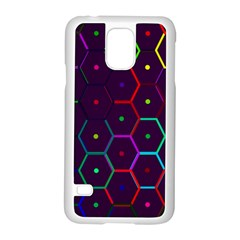 Color Bee Hive Pattern Samsung Galaxy S5 Case (white)