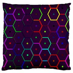 Color Bee Hive Pattern Large Flano Cushion Case (two Sides)
