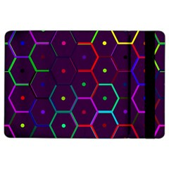 Color Bee Hive Pattern Ipad Air 2 Flip