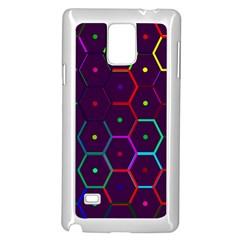 Color Bee Hive Pattern Samsung Galaxy Note 4 Case (White)