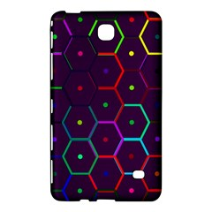 Color Bee Hive Pattern Samsung Galaxy Tab 4 (8 ) Hardshell Case