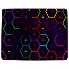 Color Bee Hive Pattern Jigsaw Puzzle Photo Stand (Rectangular)