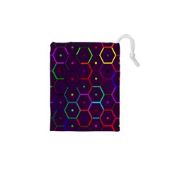 Color Bee Hive Pattern Drawstring Pouches (xs)