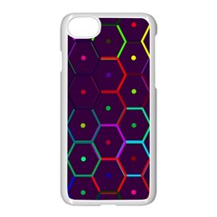 Color Bee Hive Pattern Apple Iphone 7 Seamless Case (white)