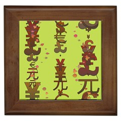 Set Of Monetary Symbols Framed Tiles