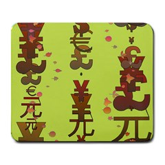 Set Of Monetary Symbols Large Mousepads
