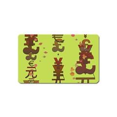 Set Of Monetary Symbols Magnet (Name Card)
