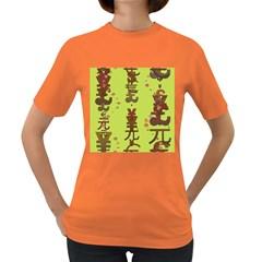 Set Of Monetary Symbols Women s Dark T Shirt
