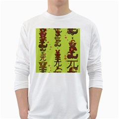 Set Of Monetary Symbols White Long Sleeve T Shirts