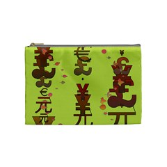 Set Of Monetary Symbols Cosmetic Bag (medium)
