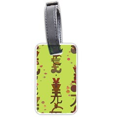 Set Of Monetary Symbols Luggage Tags (one Side)