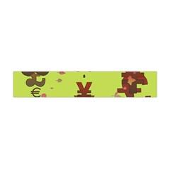Set Of Monetary Symbols Flano Scarf (mini)