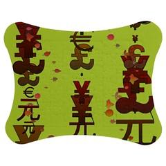 Set Of Monetary Symbols Jigsaw Puzzle Photo Stand (bow)