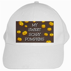 Scary Sweet Funny Cute Pumpkins Hallowen Ecard White Cap