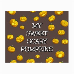 Scary Sweet Funny Cute Pumpkins Hallowen Ecard Small Glasses Cloth
