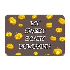 Scary Sweet Funny Cute Pumpkins Hallowen Ecard Plate Mats