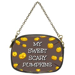 Scary Sweet Funny Cute Pumpkins Hallowen Ecard Chain Purses (Two Sides)