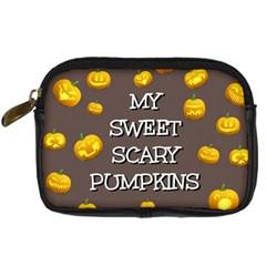 Scary Sweet Funny Cute Pumpkins Hallowen Ecard Digital Camera Cases
