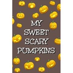 Scary Sweet Funny Cute Pumpkins Hallowen Ecard 5 5  X 8 5  Notebooks