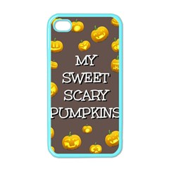 Scary Sweet Funny Cute Pumpkins Hallowen Ecard Apple Iphone 4 Case (color)