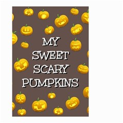 Scary Sweet Funny Cute Pumpkins Hallowen Ecard Small Garden Flag (two Sides)