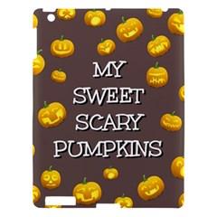 Scary Sweet Funny Cute Pumpkins Hallowen Ecard Apple Ipad 3/4 Hardshell Case