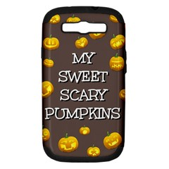 Scary Sweet Funny Cute Pumpkins Hallowen Ecard Samsung Galaxy S Iii Hardshell Case (pc+silicone)