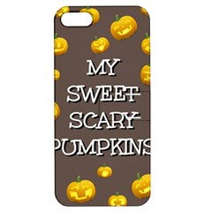 Scary Sweet Funny Cute Pumpkins Hallowen Ecard Apple iPhone 5 Hardshell Case with Stand