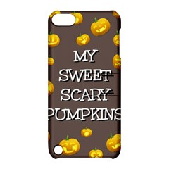 Scary Sweet Funny Cute Pumpkins Hallowen Ecard Apple Ipod Touch 5 Hardshell Case With Stand