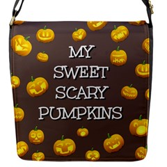 Scary Sweet Funny Cute Pumpkins Hallowen Ecard Flap Messenger Bag (s)