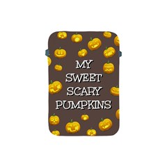 Scary Sweet Funny Cute Pumpkins Hallowen Ecard Apple iPad Mini Protective Soft Cases