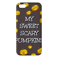 Scary Sweet Funny Cute Pumpkins Hallowen Ecard Iphone 5s/ Se Premium Hardshell Case