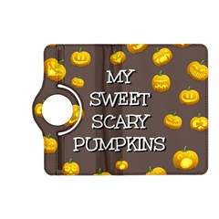Scary Sweet Funny Cute Pumpkins Hallowen Ecard Kindle Fire Hd (2013) Flip 360 Case