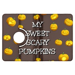 Scary Sweet Funny Cute Pumpkins Hallowen Ecard Kindle Fire Hdx Flip 360 Case