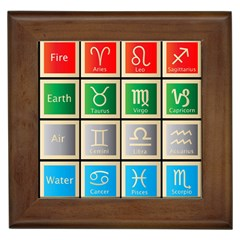 Set Of The Twelve Signs Of The Zodiac Astrology Birth Symbols Framed Tiles