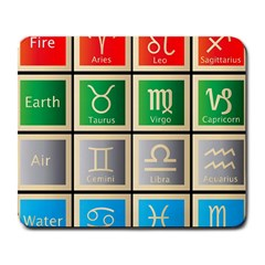 Set Of The Twelve Signs Of The Zodiac Astrology Birth Symbols Large Mousepads