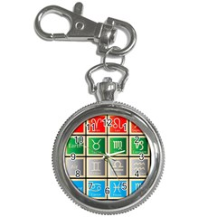 Set Of The Twelve Signs Of The Zodiac Astrology Birth Symbols Key Chain Watches
