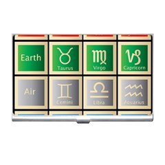 Set Of The Twelve Signs Of The Zodiac Astrology Birth Symbols Business Card Holders