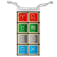Set Of The Twelve Signs Of The Zodiac Astrology Birth Symbols Jewelry Bag